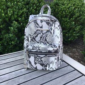 Steve Madden Mini Snakeskin Backpack